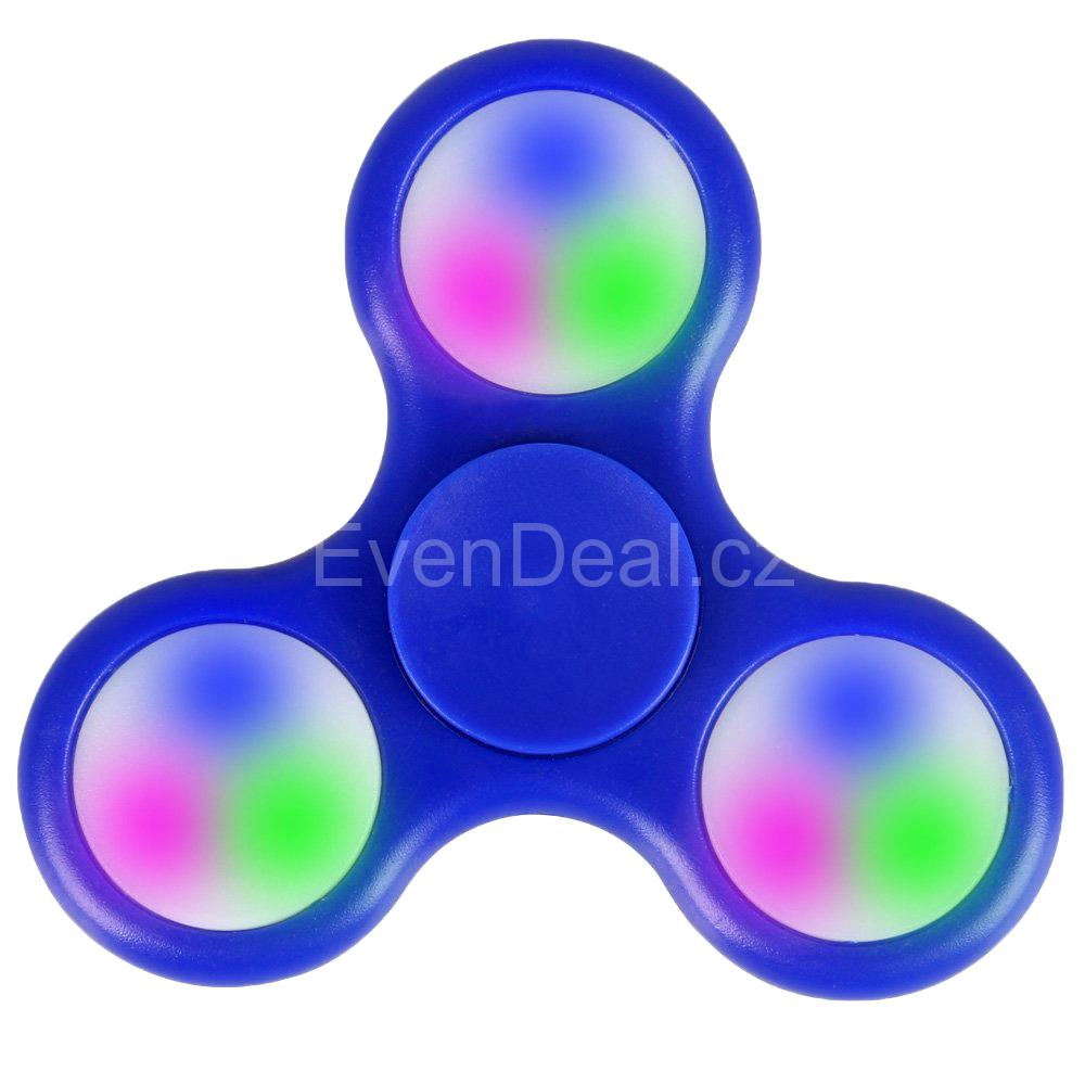 Fidget Spinner LED Light Blue FS